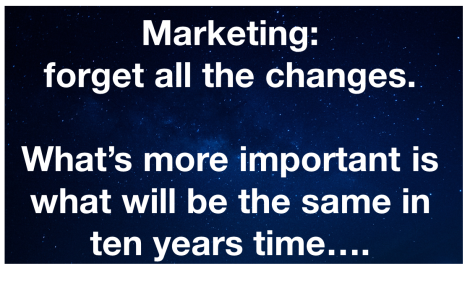 How can marketers hope to know what is coming around the corner?